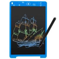 kinder farbiges zeichenbrett groihandel-Farbe LCD Writing Tablet 12 Zoll digitale Zeichnung Grafik Handschrift Pad Howshow tragbare elektronische Grafik Board Geschenk für Kinder