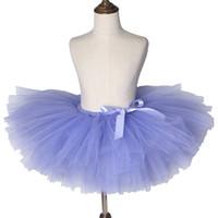 Wholesale ballet birthday party resale online - Lilac Purple Girls Tutu Skirt Children Ballet Dance Tulle Skirt Tutu Pettiskirt Princess Kids Skirts for Girls Birthday Party