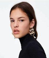 ingrosso prigioniero barocco dell'orecchino della perla-nuovo arrivo esagerato barocco vintage perla orecchini orecchino perla orecchini grandi
