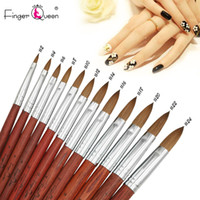 Wholesale brushes for salon for sale - Group buy 1pcs Kolinsky Manicure Brushes Crystal Nail Pencil For Sculpting Painting Manicure Suitable for Professional Salon or Home