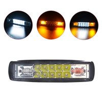Wholesale amber strobe lights for vehicles for sale - Group buy Vehicle Car W Strobe Flash Work Light LED Light Bar Amber White For Offroad x4 SUV Motorcycle Truck Car Styling Accessories