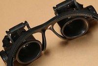 regarder les lunettes de réparation grossir achat en gros de-1x Lunettes Type Loupe 10X 15X 20X 25X Bijoux de Montre Réparation Loupe Avec 2 Lumières LED Nouveau Microscope Loupe