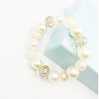 bracelets d'élasticité achat en gros de-Bijoux de bracelets d'élasticité de mode de perle assez avec des perles en verre et acryliques pour la femelle
