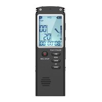 Wholesale smallest mp3 player resale online - Voice Recorder GB USB Audio Recorder with Mp3 Player Small and Portable Digital Voice with HD Recording Double Micro