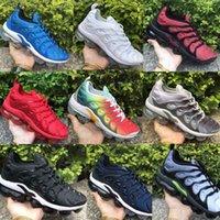 verano zapatos deportivos hombres al por mayor-Nike Air Vapormax PlusTN deporte Tripel negro blanco rojo zapatillas de deporte para hombre entrenador zapatos deportivos zapatos de trotar tamaño 36-45