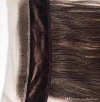 melhores perucas de cabelo humano europeu venda por atacado-Judaico Aperto Do Laço Europeu Virgem Do Cabelo Humano Cor Marrom # 4 Headband Melhor Acessório Do Cabelo Freestyle Iband Invisível Para Peruca Kosher Peruca Judaica