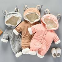 Wholesale costumes for newborn resale online - Winter jumpsuit wear overalls for kids Girl Newborn Outerwea cotton Clothing Boy Coat Baby snow Clothes Snowsuit Costume Suit