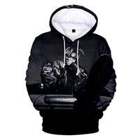ingrosso felpe con cappuccio 3d-Juice wrld Mens Pullover hoodies di modo americano Rapper 3D Stampato con cappuccio Plus Size lunghe Felpe manica