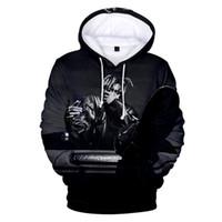 3d druck kapuzenpullis groihandel-Juice Wrld Mens PulloverHoodies Mode amerikanischen Rapper 3D Printed Hoodies Plus Size Langarm-Sweatshirts