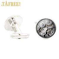 стильные часы оптовых-TAFREE машины стимпанк запонки личности часы ретро старинные моды ручной работы запонки стекло кабошон ювелирные изделия D609