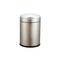 Wholesale 8L Automatic Trash Can Touchless Intelligent Induction Garbage Bin With Inner Bucket Contactless Circulator Quiet Lid Close Can Black