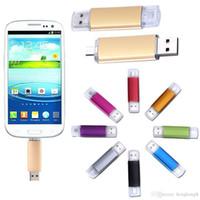Wholesale dual usb stick resale online - Real capacity GB OTG Dual Micro USB Flash Pen Thumb Drive Memory Stick for Phone PC