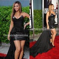 ingrosso abiti rossi di rihanna-Rihanna Vestido De Festa fasciatura Prom Dresses neri sexy paillettes brevi veste celebrità 2020 veste il trasporto libero Il nuovo modo Red Carpet