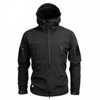 Wholesale skin jacket brown for sale - Winter Men s Army Camouflage Jacket Hooded Coat Shark Skin Tactical Waterproof Soft Shell Jackets Windbreaker Raincoat