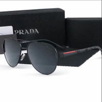 Wholesale new rimless titanium frame brands resale online - new PRADA Sunglasses Retro Polarized Luxury Designer Sunglasses Rimless Gold Plated Square Frame Brand Sun Glasses Fashion Eyewear with box