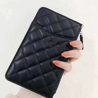 Wholesale black quilted clutch resale online - High Quality Quilted Clutch Bags Purses Wallets Holders Lady Womens Pu Leather Bags Card Holders Fashion Coin Purse Wallet for Woman gifts