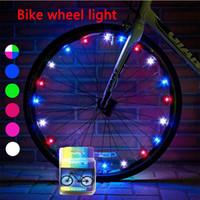 bicicletas de ruedas para niños al por mayor-Luces de la rueda de la bici del LED Ciclismo habló la rueda de la rueda Luces de tira brillantes del neumático de la bicicleta Luces de tira frescas de los cabritos de los niños fresco Accesorios de la bicicleta