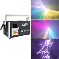 lazer dj al por mayor-Luces calientes a todo color de la etapa del laser de DJ de la animación de DMX ILDA SD Lazer de la venta 50000 RGB 5W