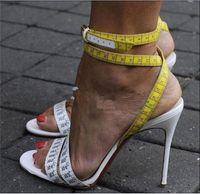 Wholesale cross heel stilettos resale online - Women Sandals Shoes Unique Design Ruler Cross High Heel Sandals Fashion Ankle Buckle Strap Open Toe High Thin Heels Party Shoes Summer Shoes
