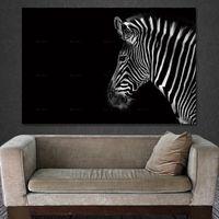 zebra wandmalereien großhandel-Wandkunst Poster Wohnkultur Bild Drucken leinwand tiermalerei Rahmenlose Druck Zebra Gemälde