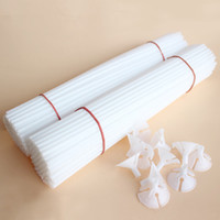 Wholesale latex balloon accessories resale online - Halloween cm White Latex Balloon Sticks PVC Rods for Balloons Holder Sticks with Clips Birthday Party Decoration Accessories