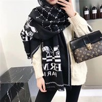 Wholesale winter scarf horse for sale - Group buy Warm Soft winter cashmere scarves high end classic horse brand fashionable men and women s shawls cm without box