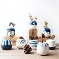 Wholesale ceramic planter pots for sale - Group buy Ceramic Succulent Plant Pot Cactus Plant Pot Flower Pots Container Planter for Home Garden Office Decoration Plant Not Included