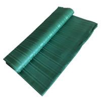 pedaços de tecido de tecido venda por atacado-Africano nigeriano real 100% algodão atiku rendas para o homem pano tecido atiku 5 metros por peça cor verde-J5