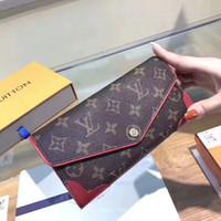 Wholesale discounted branded wallets resale online - Sale Discount Quality wallets for Women Bag Handbag Genuine leather purse brand floral letters plaid