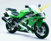 Wholesale kawasaki zx7r fairing black green resale online - For Kawasaki Fairing NINJA ZX R ZX R ZX7R Green Black Shell Aftermarket Kit