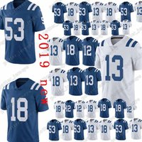 Cheap sales Indianapolis Jerseys Colts 53 Darius Leonard 18 Peyton Manning  13 Ty Hilton 12 Andrew Luck Jersey Top quality 718d09c8f