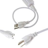 cabo fio fim venda por atacado-3 pinos LED Cabo de extensão, Fio de conexão da lâmpada, Cabo conector duplo para T5 T8 Lâmpada LED integrada para tubo