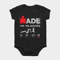 детские боди черные белые оптовых-Baby Onesie Детские боди детские футболки с надписями Белая черная футболка Ironman Триатлон Чемпионат мира Хлопок