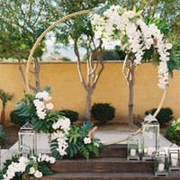 Customize Diy Wedding Backdrop Decor Iron Ring Arch Background Shelf Frame For Outdoor Indoor Centerpieces Decoration Props