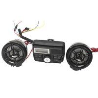 mp3 аудио система оптовых-Мотоцикл MP3-плеер Мотобайк Сигнализация Аудио спикер Система сигнализации Кража MP4-плеер TF Карта USB AUX Moto FM-радио Стерео