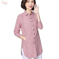 Wholesale formal clothes for women for sale - Group buy Striped Women Blouse Shirts Spring Autumn For Lady Stand Collar Work Long Sleeve Tops Fashion Blusas Clothing Plus Size New