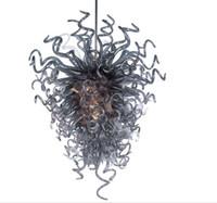vidro antigo da lâmpada venda por atacado-Antique Iluminação Interior Led Light soprado Lâmpadas Pingente de vidro 100% artesanal vidro borosilicato Modern Decor Art Led Candelabro por Livingroom