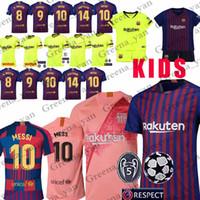 jerseys de fútbol para mujeres al por mayor-promoción 10 Messi Barcelona Soccer Jersey 8 Iniesta 9 Suarez 26 MALCOM 11 Dembele Coutinho Camisetas de fútbol Hombre Mujer Niños