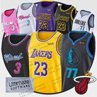 1b92962985b Camiseta NCAA LeBron 23 James 2019 Hombres Juventud LeBron Luka Dwyane 3  Wade 77 Doncic cosida camisetas de baloncesto