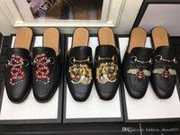 tierisches leder großhandel-2018 gedruckt Tiere Männer Pantoffel High Fashion Styles Outdoor Schuhe Qulity, original qulity, wirklich Leder, Farben zur Auswahl, kostenloser Versand