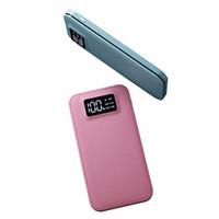 usb портативный мобильный аккумулятор батарей питания оптовых-Power Bank 20000 мАч Внешняя батарея Poverbank Dual USB Порты Powerbank Портативное зарядное устройство мобильного телефона для телефонов планшетов