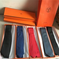 gravata jacquard venda por atacado-Gravata dos homens clássicos de alta-grade 100% de seda jacquard gravata monogrammed camisa dos homens Pescoço 7.0 cm Gravatas de seda moda gravata com caixa de embalagem