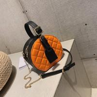 posta poşetleri 17 toptan satış-2019 tasarımcı yeni linga tek omuz crossbody moda basit yönlü zincir taşınabilir küçük yuvarlak çanta 19 * 17 * 11 Paket posta
