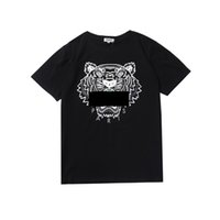 Wholesale clothes rounding resale online - More Colors Shirts For Men Tiger Head KENZO Tops Shirt Clothing Brand Short Sleeve Round collar Tshirt Men Women S XL
