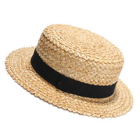 2017 New Summer Natural Straw Sun Hat For Women Men Fashion Beach Hats Ladies Flat Sunhat For Holiday Y19070503