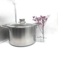 kaliteli pişirme tavaları toptan satış-Fabrika kaynağı mükemmel kalite titanyum çorba tenceresine titanyum tava sıcaklık kontrolü titanyum tencere tencere seti çorba