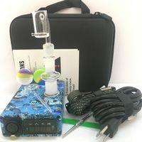 portable E nail kit electric digital nail PID TC complete kit electronic dabbing nail ENail Dnail Titanium domeless 220 V 110v 100w digital.