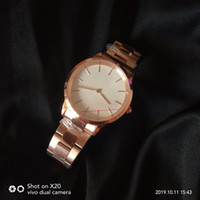 Wholesale 28mm strap stainless resale online - 2019 New Design Best Version mm mm mm Stainless Steel Strap Watch Rose Gold Silver