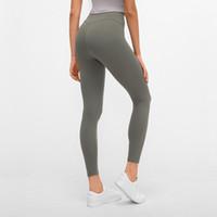 ingrosso delle donne sexy leggings pantaloni di yoga-Nuove donne vita alta Yoga Leggings signore di autunno sexy stirata Esecuzione palestra Pantaloni Sportswear Donna Leggins allenamento