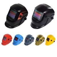 kask koruyucuları toptan satış-Güneş Otomatik Kaynak Kask Kaynak Maskesi Otomatik Karartma Yapılan kaynaklar Koruma MIG TIG Ark Kaynak Koruma Koruma Aracı